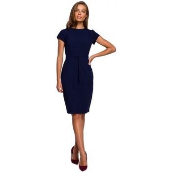 Abbigliamento Donna Abiti corti Style S239 Abito a matita con cintura - rosso