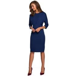 Abbigliamento Donna Abiti corti Style S242 Abito con maniche a pipistrello - blu navy