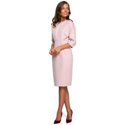Abbigliamento Donna Abiti corti Style S242 Abito con maniche a pipistrello - polvere