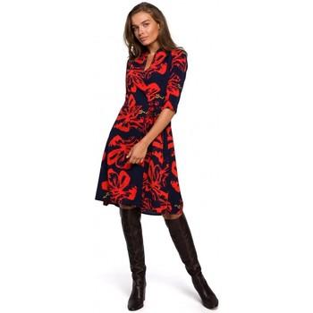 Abbigliamento Donna Abiti corti Style S247 Abito Wrap fit and flare con stampa - modello 1