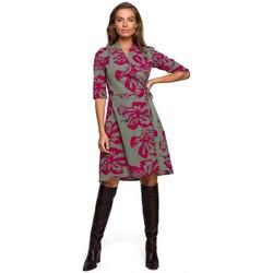 Abbigliamento Donna Abiti corti Style S247 Abito Wrap fit and flare con stampa - modello 2