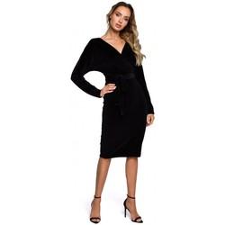 Abbigliamento Donna Abiti corti Moe M561 Vestito con top in velluto - nero