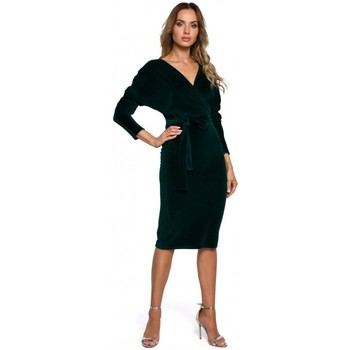 Abbigliamento Donna Abiti corti Moe M561 Vestito con top in velluto - verde