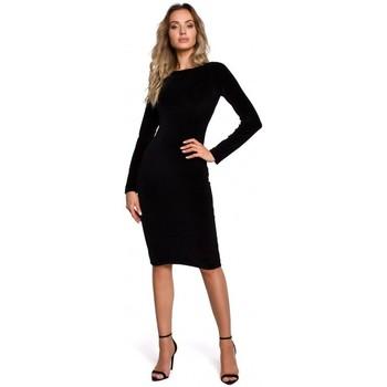 Abbigliamento Donna Abiti corti Moe M565 Abito a matita in velluto - nero