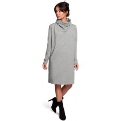 Abbigliamento Donna Abiti corti Be B132 Abito con collo alto - grigio