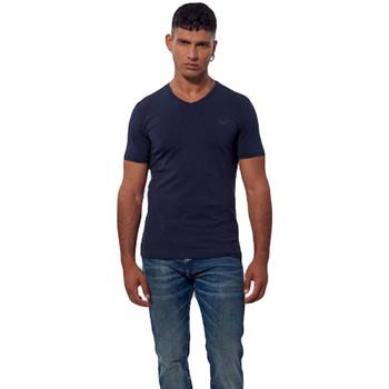 Abbigliamento Uomo T-shirt maniche corte Kaporal Pack x2 shirts Gift navyre col v Blu