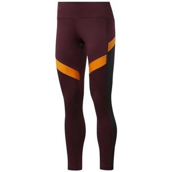 Abbigliamento Donna Pantaloni Reebok Sport Wor Mesh Tight Arancione, Bordeaux