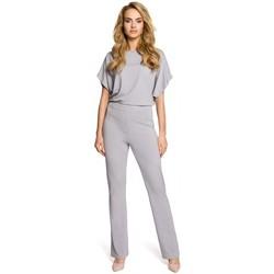 Abbigliamento Donna Tuta jumpsuit / Salopette Moe M319 Tuta a gamba larga - grigio