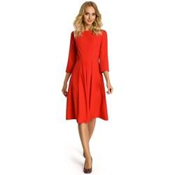 Abbigliamento Donna Abiti corti Moe M335 Vestito con piega a scatola davanti - rosso