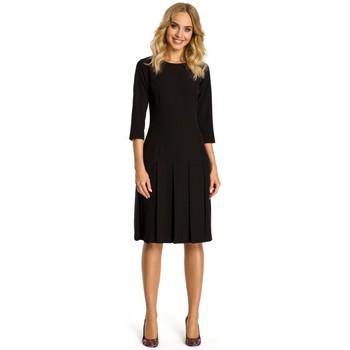 Abbigliamento Donna Abiti corti Moe M336 Abito a vita bassa con pieghe - nero