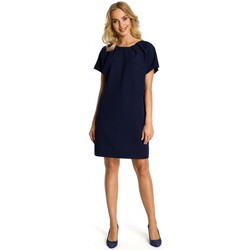 Abbigliamento Donna Abiti corti Moe M337 Abito a turni con pieghe - blu navy