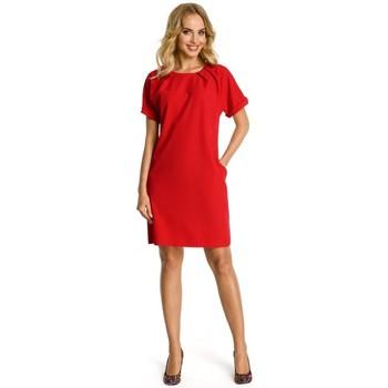 Abbigliamento Donna Vestiti Moe M337 Abito a turni con pieghe - rosso