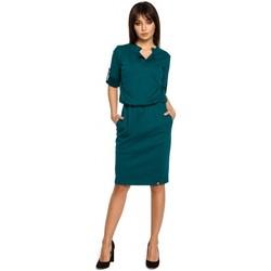 Abbigliamento Donna Abiti corti Be B056 Abito in maglia stile camicia - verde
