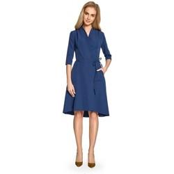 Abbigliamento Donna Abiti corti Style S099 Abito a linea asimmetrica - blu navy