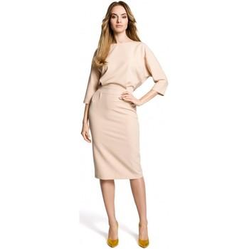 Abbigliamento Donna Abiti corti Moe M360 Vestito di media lunghezza con top largo - beige