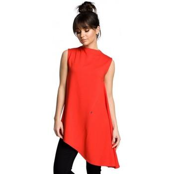 Abbigliamento Donna Top / Blusa Be B069 Top asimmetrico senza maniche - rosso