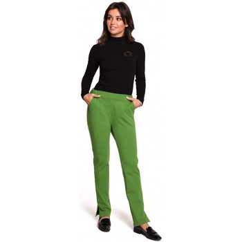 Abbigliamento Donna Pantaloni Be B124 - Pantaloni jogger con spacchetti - lime