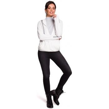 Abbigliamento Donna Felpe Be B127 Pullover con cappuccio - ecru