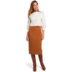 Abbigliamento Donna Gonne Style S171 Gonna a vita alta - zenzero
