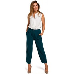 Abbigliamento Donna Pantaloni 5 tasche Style S172 Camicia senza maniche - ecru