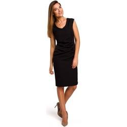 Abbigliamento Donna Abiti corti Style S174 Abito senza maniche con arricciatura sul davanti - nero