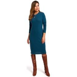 Abbigliamento Donna Vestiti Style S178 Vestito di maglia a maniche lunghe - blu oceano