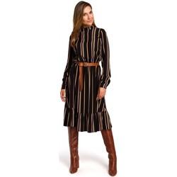 Abbigliamento Donna Abiti corti Style S182 Abito a righe con cintura con fibbia - modello 1