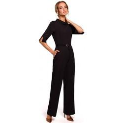 Abbigliamento Donna Tuta jumpsuit / Salopette Moe M463 Jumpsuij con colletto rialzato - nero