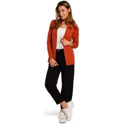 Abbigliamento Donna Maglioni Style S198 Cardigan con bottoni a pressione - zenzero