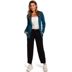 Abbigliamento Donna Maglioni Style S198 Cardigan con borchie a pressione - blu oceano