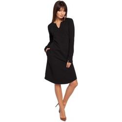 Abbigliamento Donna Vestiti Be B017 Abito con scollo a tacche - nero