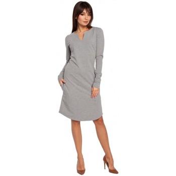 Abbigliamento Donna Vestiti Be B017 Abito con scollo a tacche - grigio
