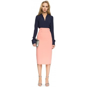 Abbigliamento Donna Gonne Style S065 Gonna midi a matita - rosa salmone