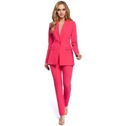 Abbigliamento Donna Giacche da completo Moe M304 Giacca a un bottone - rosa