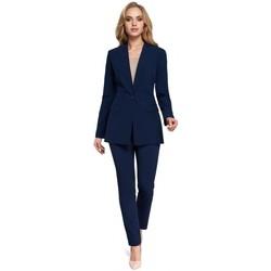 Abbigliamento Donna Giacche da completo Moe M304 Giacca a un bottone - blu navy