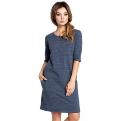 Abbigliamento Donna Abiti corti Be B033 - Vestito a caschetto - blu navy
