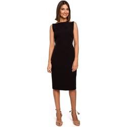 Abbigliamento Donna Abiti corti Style S216 Abito a matita senza maniche - nero