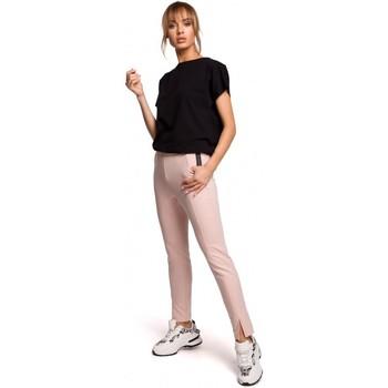 Abbigliamento Donna Pantaloni Moe M493 Pantaloni a gamba divisa - rosa confetto