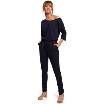 Abbigliamento Donna Tuta jumpsuit / Salopette Moe M497 Tuta con manica Dolman - blu navy
