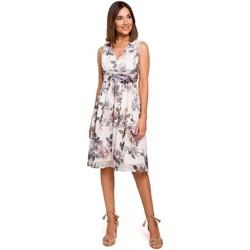 Abbigliamento Donna Vestiti Style S225 Abito in chiffon con scollo profondo - modello 1