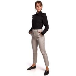 Abbigliamento Donna Camicie Be B165 Camicia con maniche a sbuffo - nero