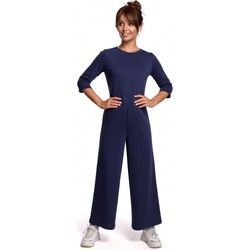 Abbigliamento Donna Tuta jumpsuit / Salopette Be B174 Tuta a gamba larga - blu
