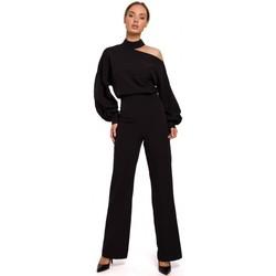 Abbigliamento Donna Tuta jumpsuit / Salopette Moe M528 Tuta con maniche a vescovo - nero