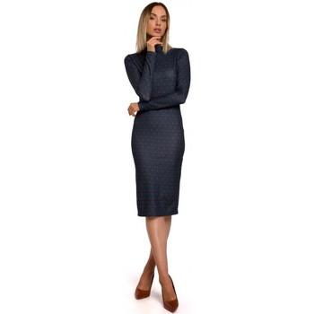 Abbigliamento Donna Abiti corti Moe M544 Maxi abito con spacco sulla gamba - rosso mattone