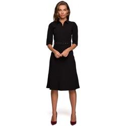 Abbigliamento Donna Abiti corti Style S231 Collo dres con cintura con fibbia - nero
