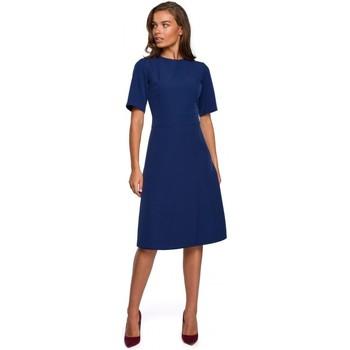 Abbigliamento Donna Abiti corti Style S240 Abito frontale avvolgente - cipria