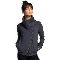 Abbigliamento Donna Felpe Be B071 Felpa con zip - grafite