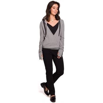 Abbigliamento Donna Felpe Be B127 Pullover con cappuccio - grigio