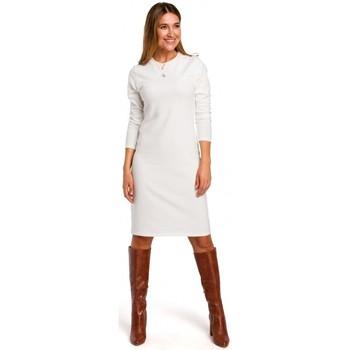 Abbigliamento Donna Abiti corti Style S178 Vestito di maglione a maniche lunghe - ecru