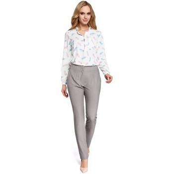 Abbigliamento Donna Chino Moe M303 Pantaloni a gamba dritta - grigio